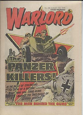 Warlord Comic number 203  August 12th 1978