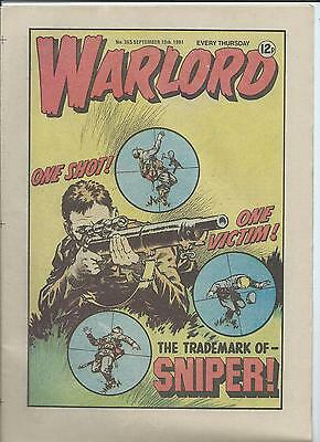 Warlord Comic number 365  September 19th 1981