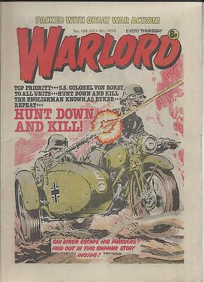Warlord Comic number 198 July 8th 1978