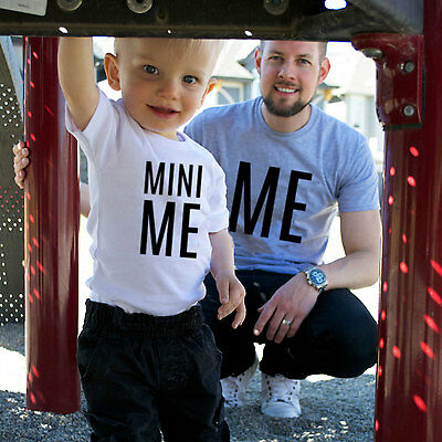 Adult and Kids Parent Child Matching Me, Mini Me T-Shirts, Dad Mom Son Daughter