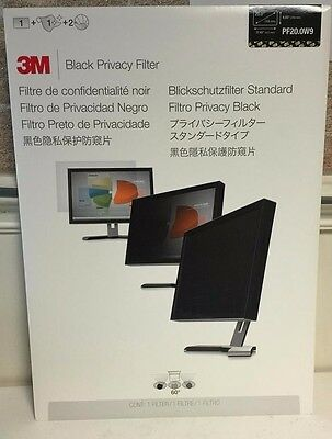 Brand New - 3M Black Privacy Filter 20.0 inch Widescreen 16:9 - PF20.0W9