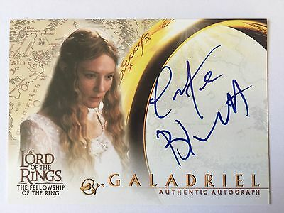 Topps FOTR Lord Of The Rings Cate Blanchett / Galadriel Autograph Card LOTR Auto