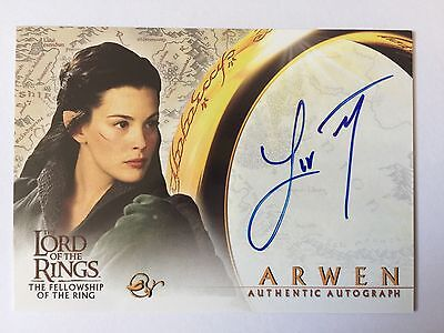 Topps 2001 FOTR Lord Of The Rings Liv Tyler / Arwen Autograph Card LOTR Auto