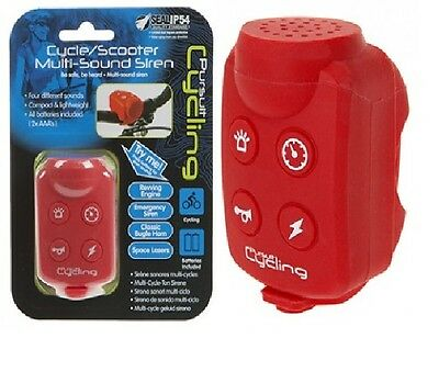 Pursuit Multi Sound Cycle  /Scooter Siren Bike Bell Bicycle Gift Electronic Horn