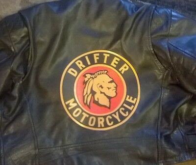 "Kawasaki Drifter 10"" synthetic leather back patch. NICE!! NEW"