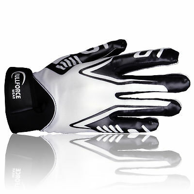 Full Force Titanium Lite American Football Receiver Handschuhe, weiß