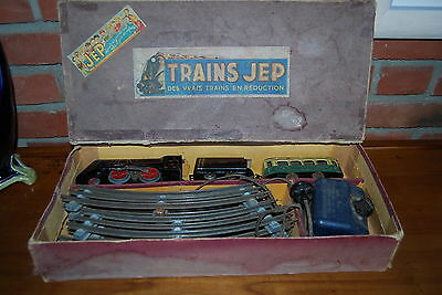 Jep Coffret Locomotive Vapeur Lithographiee + Wagons En 0