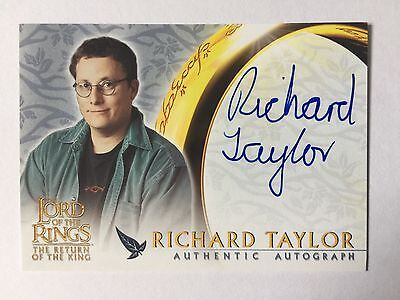Topps 2003 ROTK Lord Of The Rings Richard Taylor WETA Autograph Card LOTR Auto