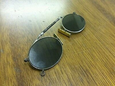 Vintage Antique 20th C PINCE NEZ sunglasses spectacles shades repair spring