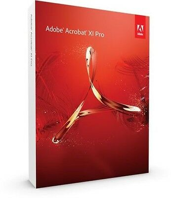 Adobe Acrobat XI Pro (11) Full English Version With DVD 32bit /  64 Bit