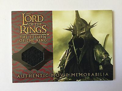 2004 ROTK Lord Of The Rings The Witch-King's Cloak Costume Memorabilia Card LOTR