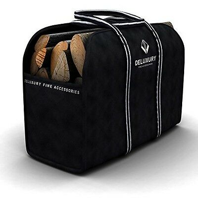 Firewood Carrier - Deluxury Fireplace Accessories: Max Load Canvas Log Tote and
