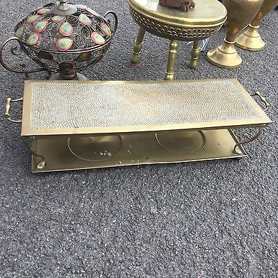 Brass Arts And Crafts Tray Plate Warmer