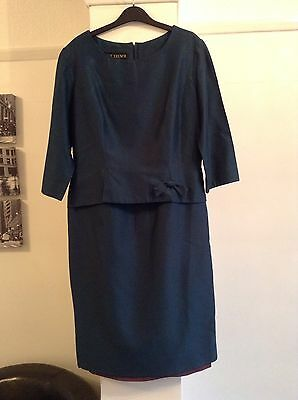 FAB 1960's TRUE VINTAGE PEGGY FRENCH GREEN DRESS SIZE 12/14