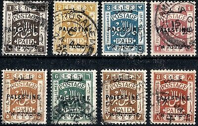 Palestine. 1922  Definitive.  Watermark Multiple Script.  SG71-78.  Used.