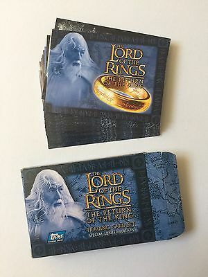 Topps Lord Of The Rings LOTR Return of the King UK Cards Inc. Factory Set N1-N20