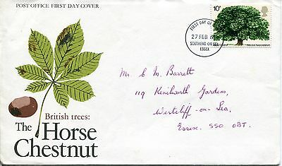 GB First Day Cover - issued 1974.02.27 - British Trees