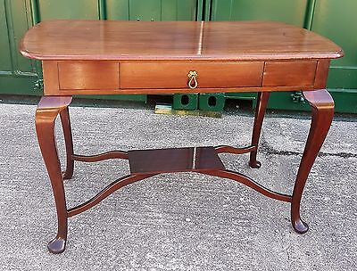 Vintage Queen Anne Style Mahogany Hall Table