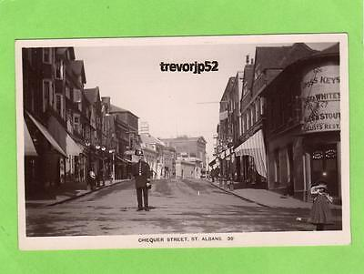 Chequer Street St Albans Policeman unused RP pc Kingsbury Ref A749