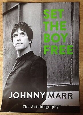 Johnny Marr (The Smiths)  promo poster for new biography (V rare)