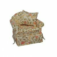 Dolls House 1/12Th Scale Quality Floral Arm Chair