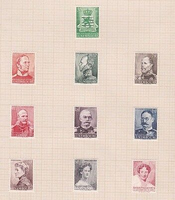 Luxembourg 1939  Stamps Mounted Mint On 1 Page Ref R 2574