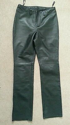 Real leather ladies black trousers