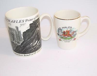 Wedgwood Large Tankard & Pottery Mug Investiture HRH Prince of Wales c.1969.