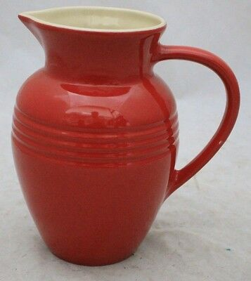 LE CREUSET Large Cherry Red Stoneware Water Jug 2.2L - 225