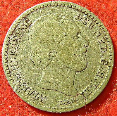 Netherlands 10 Cent 1869 Small Silver Coin