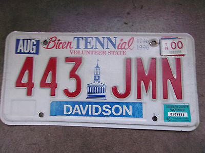 Vintage License Plate Sign Exp 2000 1996 Bicentenial TN Tennessee Color!