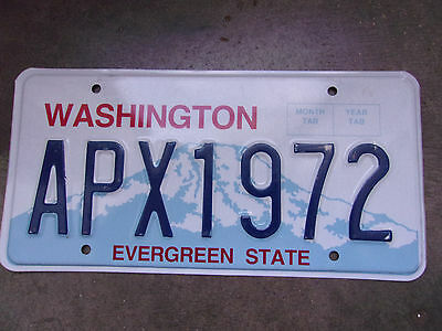 Vintage License Plate Sign Exp 2011 Wa Washington Mountians Color APX 1972