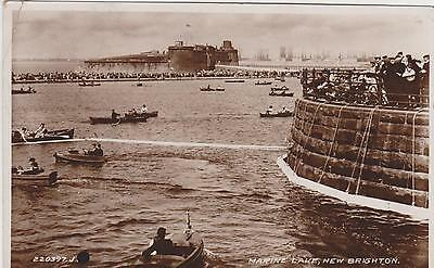 Rp Boating Lake New Brighton , Wallasey Wirral , Real Photo Posted 1934