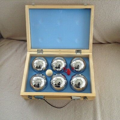 Petanque Steel Balls (6) with Target Ball & Measuring Cord