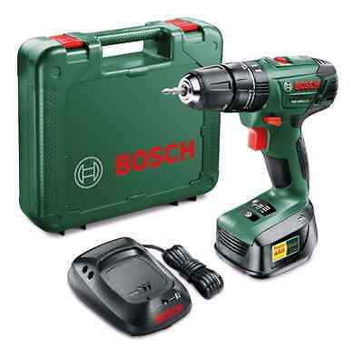 Bosch 18v Lithium-Ion Cordless Combi Drill 2 x Batteries + Charger PSB 1800 LI-2