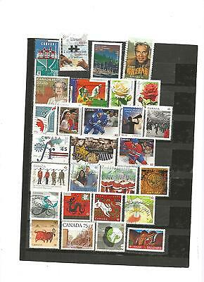28 timbres du canada lot reference  30072016 fra y2