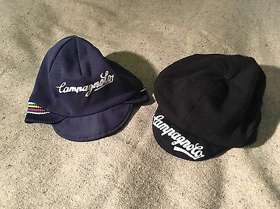 Rare Vintage Campagnolo Belgian Style Winter Cycling Hats Caps Eroica