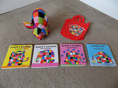 Elmer Teddy and board books and bag bundle Baby Toys and books (d1)