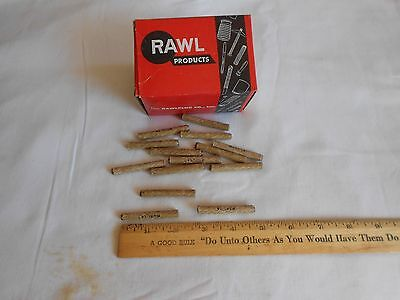 (3) boxes Vintage Rawlplug Fiber Screw Anchor (100) pcs. per box  -  14 X 2""