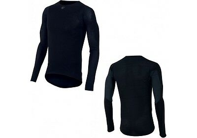 NOW SAVE 30% Pearl Izumi Men's Transfer Wool Long Sleeve Cycling Base Layer Blac