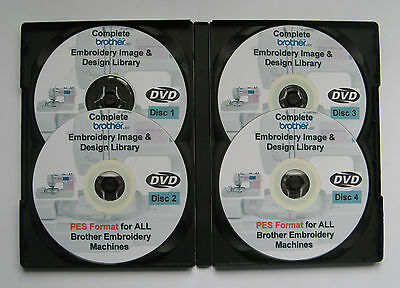 139,877 BROTHER BABYLOCK Machines PES Format EMBROIDERY Designs - 4 DISC BOX SET