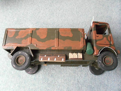 Large Handmade Wooden Bedford QL General Service Lorry