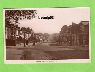London Road St Albans  RP pc used 1913 Kingsbury  Ref A774