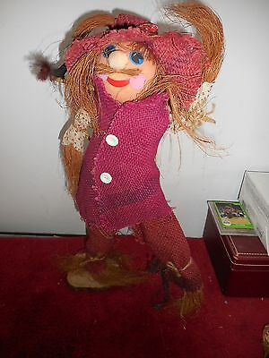 "Halloween Scarecrow Figure 20"" tall Vintage Collectible  (JS)"