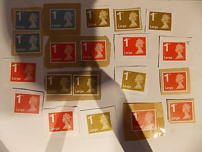 20 Unfranked 1St Class Large Stamps On Paper