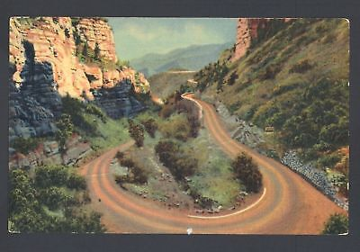 Postcard WILLIAMS CANON CAVE OF WINDS Manitou Spring CO
