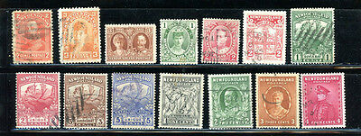 Newfoundland outstanding selection of 14 stamps