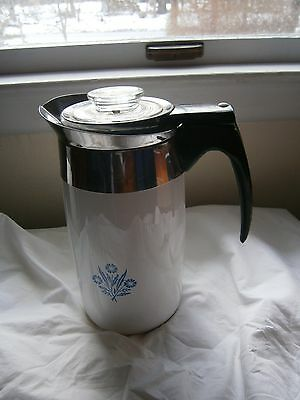 COLLECTORS -- FOR DISPLAY ONLY Corning Ware 10 Cup Coffee Pot Blue Cornflower
