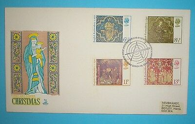 GB Illustrated First Day Cover - 1976 - Christmas -   Bethlehem handstamp