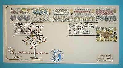 GB Illustrated First Day Cover - 1977 - Christmas -   Bethlehem handstamp